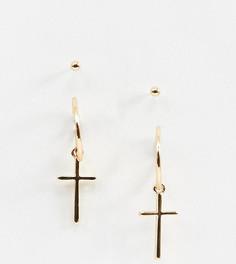 Серьги-гвоздики с подвесками ASOS DESIGN - Золотой