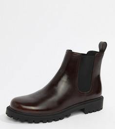 Бордовые ботинки челси из искусственной кожи Monki - Черный