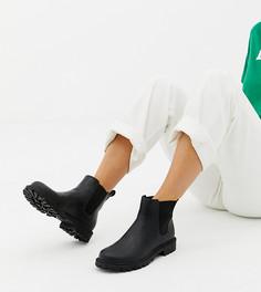 Черные ботинки челси из искусственной кожи Monki - Черный