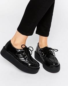 Кожаные криперы на шнуровке T.U.K. Viva - Черный