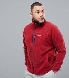 Флисовая куртка на молнии Columbia Big & Tall Fast Trek II - Красный