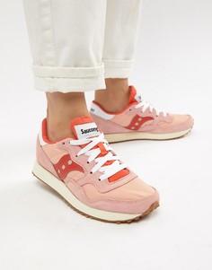 Красно-розовые кроссовки Saucony Dxn Vintage - Розовый