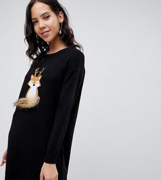 Новогоднее платье-джемпер Brave Soul Tall - Черный