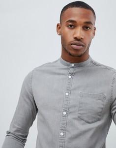 Светло-серая эластичная джинсовая рубашка ASOS DESIGN - Серый