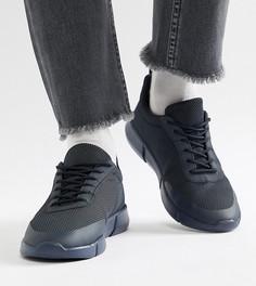 Темно-синие сетчатые кроссовки для широкой стопы ASOS DESIGN - Темно-синий