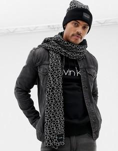 Подарочный набор с шарфом и шапкой-бини Calvin Klein - Черный