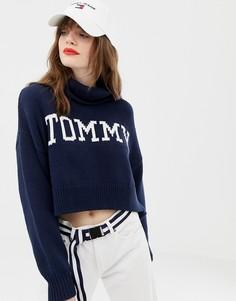 Свитшот с высоким воротником и логотипом Tommy Jeans - Черный