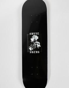 Скейтборд с принтом SWEET SKTBS - 8 дюймов - Черный