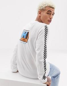 Белый лонгслив с логотипом Sweet SKTBS x Helly Hansen - Белый