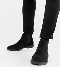 Черные замшевые ботинки челси Pull&Bear - Черный Pull&;Bear