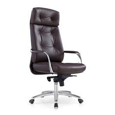 Кресло руководителя БЮРОКРАТ _DAO, на колесиках, кожа [_dao/brown]