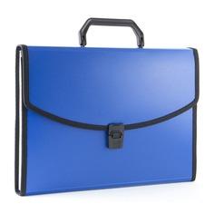 Портфель Бюрократ -BPP13LBLUE 13 отдел. A4 с окантовкой пластик 0.7мм синий 14 шт./кор.