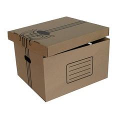 Папка-короб съемная крышка Бюрократ AC-11 микрогофрокартон 355x265x440мм коричневый 10 шт./кор.