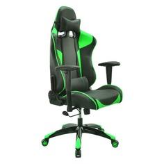 Кресло игровое БЮРОКРАТ CH-775, на колесиках, искусственная кожа [ch-775/bl+gr]