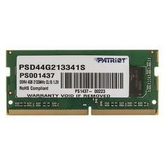 Модуль памяти PATRIOT PSD44G213341S DDR4 - 4Гб 2133, SO-DIMM, Ret Патриот
