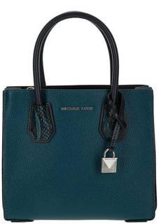 Маленькая кожаная сумка со съемным плечевым ремнем Mercer Michael Kors