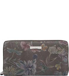 Кожаный кошелек с цветочным принтом Picard