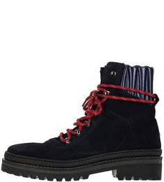 Высокие демисезонные ботинки из замши Tommy Hilfiger