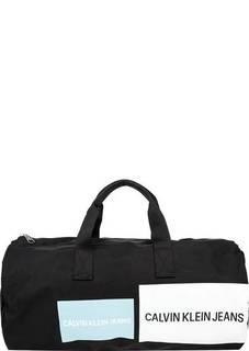Текстильная спортивная сумка с декоративным принтом Calvin Klein
