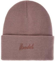 Шапка мелкой вязки с декоративной вышивкой Herschel
