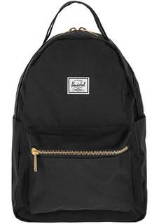Текстильный рюкзак черного цвета на двухзамковой молнии Herschel
