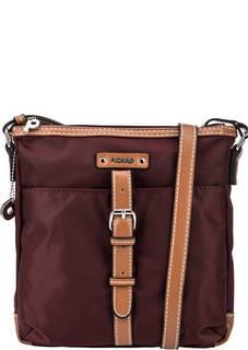 Текстильная сумка через плечо бордового цвета Picard