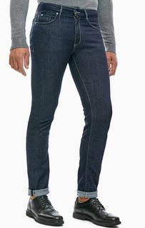 Прямые синие джинсы с контрастной строчкой Morris GAS