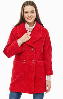 Двубортное пальто красного цвета Kocca