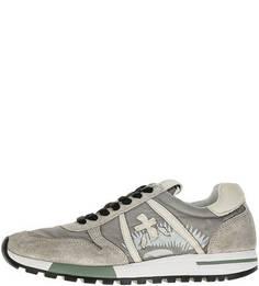 Кроссовки серого цвета на шнуровке Premiata