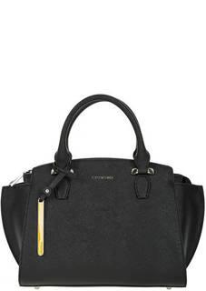 Черная кожаная сумка со съемным плечевым ремнем Cromia