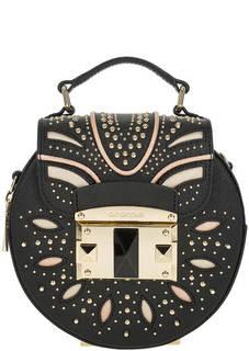 Маленькая кожаная сумка через плечо с металлическим декором Cromia