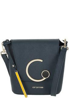 Маленькая кожаная сумка через плечо с откидным клапаном Cromia