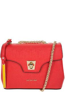 Маленькая красная сумка из сафьяновой кожи Cromia