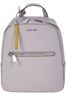 Сумка-рюкзак серого цвета из сафьяновой кожи Cromia