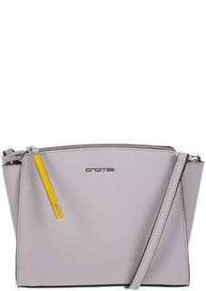 Маленькая кожаная сумка через плечо с брелоком Cromia
