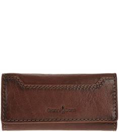 Кожаная ключница коричневого цвета Gianni Conti