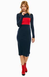 Шерстяное платье средней длины Calvin Klein