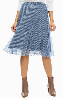 Плиссированная юбка средней длины Trucco