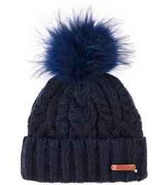 Вязаная шапка с меховым помпоном Noryalli