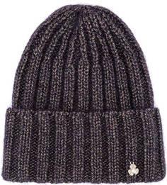 Фиолетовая шапка с металлизированной нитью Noryalli