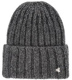 Серая шапка с металлизированной нитью Noryalli