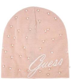 Вязаная шапка с бусинами Guess