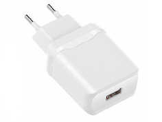 Зарядное устройство Olmio USB 2.4A Smart IC White ПР038735