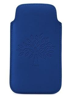 Кожаный чехол для смартфона с логотипом бренда Mulberry