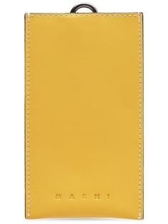Кожаный чехол для смартфона с ремешком Marni