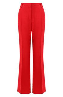 Расклешенные брюки из смеси шерсти и шелка Valentino