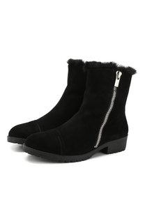 Утепленные замшевые ботинки с молниями DKNY