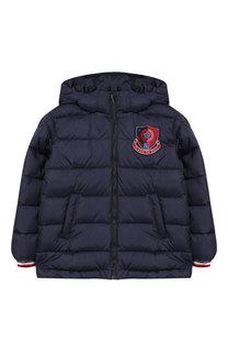 Пуховая куртка на молнии с капюшоном Dolce & Gabbana