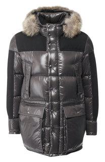 Пуховая куртка Frey на молнии с капюшоном Moncler