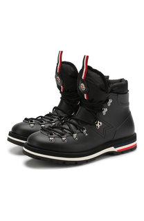 Кожаные ботинки Henoc на шнуровке Moncler